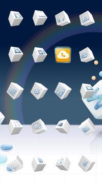 3D Cube Theme apk screenshot