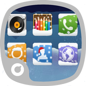 Blue Snow Theme icon