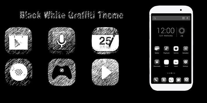 Black White Graffiti Theme poster