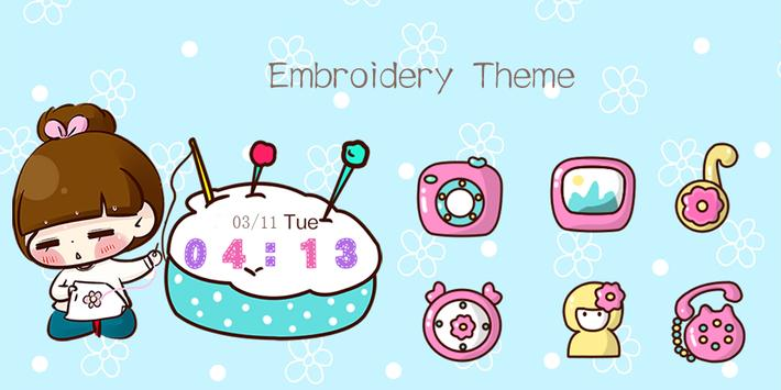 Embroidery Theme poster