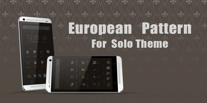 European Pattern Theme poster