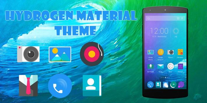 Hydrogen Material Theme poster