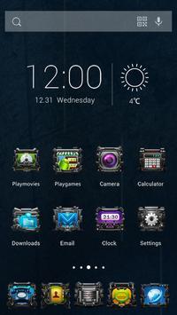 Mechanical Future Theme apk screenshot