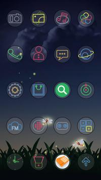 Night Of Glow Theme apk screenshot
