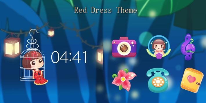 Red Dress Theme poster