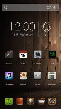 Wood Texture Theme apk screenshot