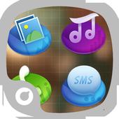 Three-dimensional style Theme icon