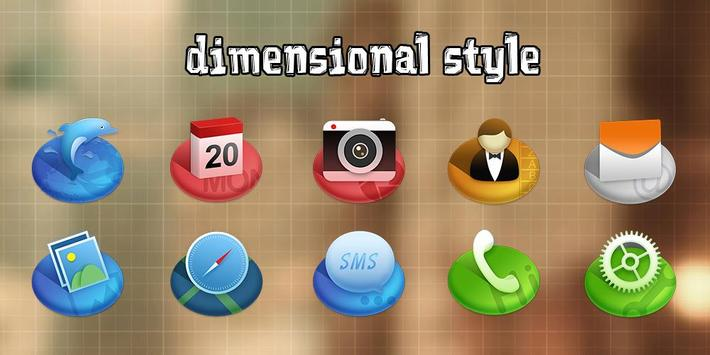 Three-dimensional style Theme poster
