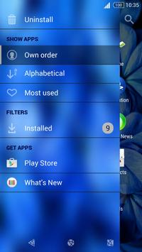 Flowers v4 Xperia Theme apk screenshot