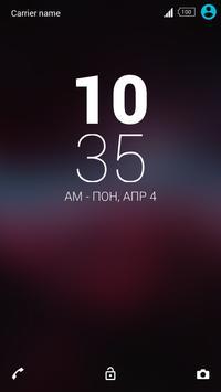 Galaxy Blur Xperia Theme apk screenshot