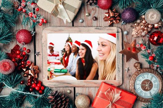 Photo Frame Christmas New Year 2018 poster
