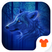 Blue Wolf Theme for Android icon