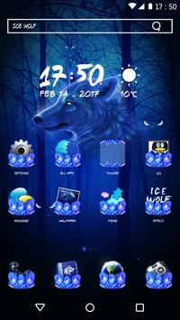 Blue Wolf Theme for Android poster