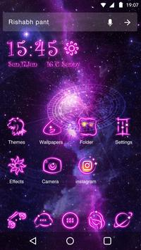 Neon theme neon purple star wallpapericon apk download free neon theme neon purple star wallpapericon poster altavistaventures Images