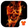 Hell Skull Fire 3D Theme
