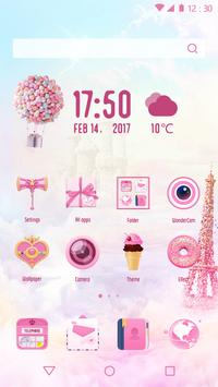 Romantic Pink Love Theme for Android FREE poster