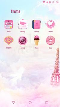 Romantic Pink Love Theme for Android FREE screenshot 2