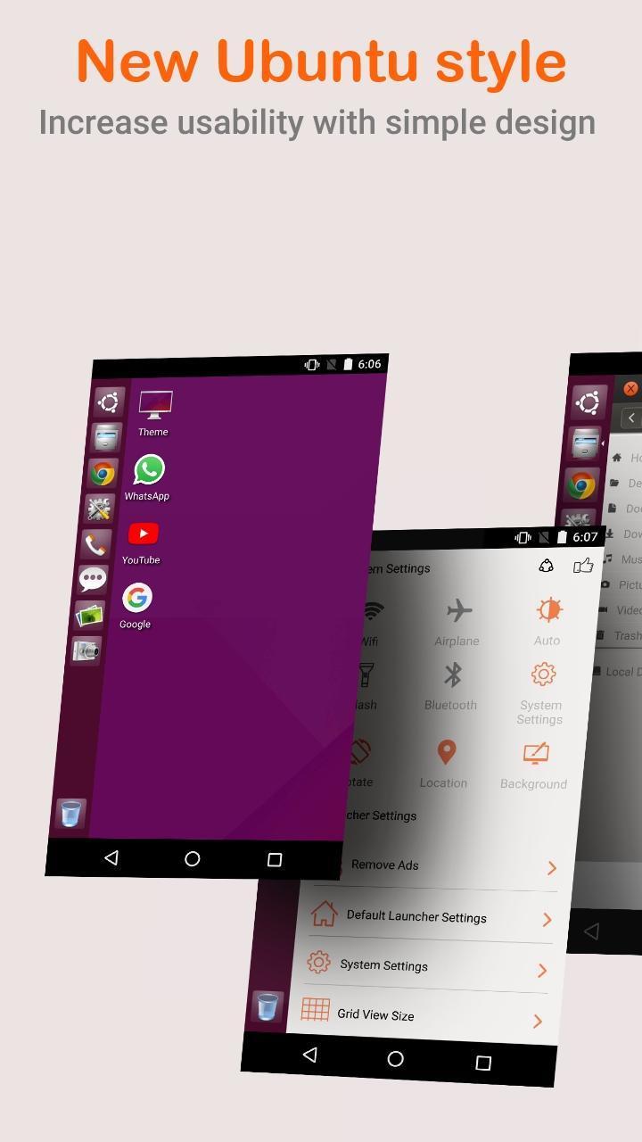 Ubuntu OS Theme Launcher Pro v1.0 Cracked APK [Latest] 1