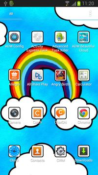 Beautiful Cloud Theme for ADW apk screenshot