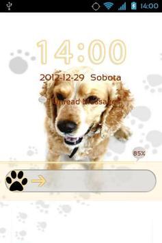 Cute Dog v2 - GO Locker Theme apk screenshot