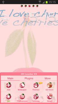 Theme Cherries for GO Launcher apk screenshot