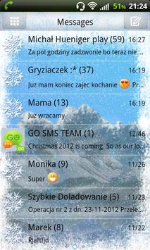 Winter Mountain for GO SMS Pro poster