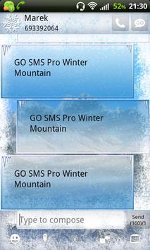 Winter Mountain for GO SMS Pro apk screenshot