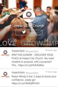 Impact City Church poster