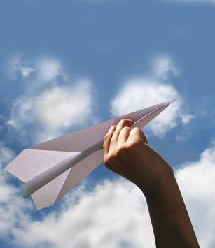 Como fazer avião de papel poster