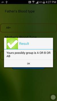 Blood Type Calculator apk screenshot