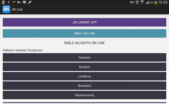 Jehovah's Witnesses Link apk screenshot