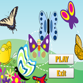butterfly coloring book 360 icon