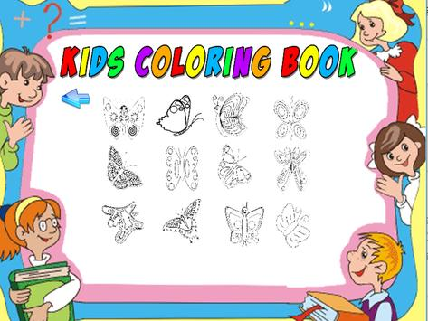 butterfly coloring book 360 poster