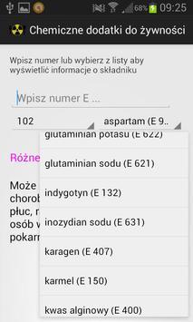 Chemiczne dodatki do żywności apk screenshot