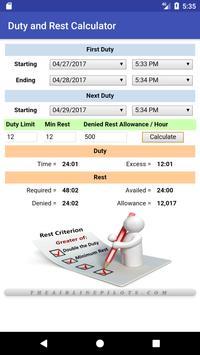 Duty and Rest Calculator screenshot 4
