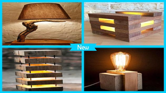 Great DIY Wooden Lamp Step By Step poster