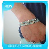 Simple DIY Leather Studded Bracelet icon