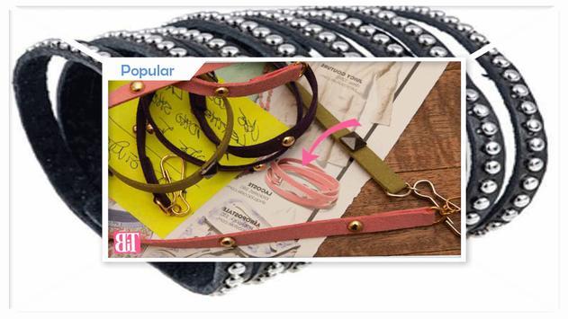Simple DIY Leather Studded Bracelet apk screenshot