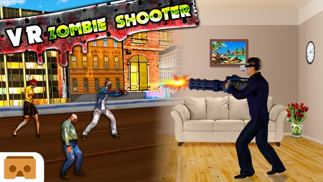 VR Virtual Reality Zombie Shooter 3D Cardboard poster