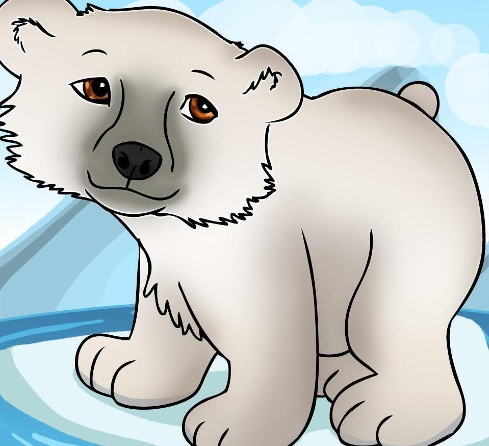 Белый медведь детская картинка