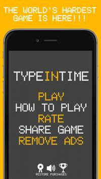 Type In Time: Hard Typing Game poster