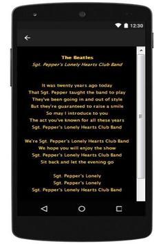 The Beatles Lyrics apk screenshot