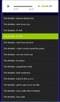 the beatles songs poster