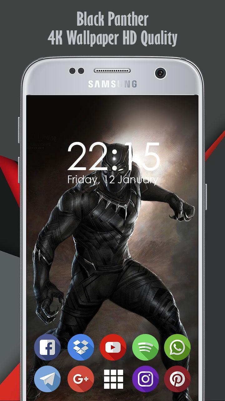 4k Black Panther Background And Wallpaper Ultra Hd For Android Apk Download