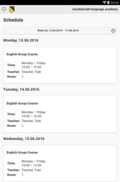 mackdonald language academy apk screenshot