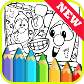 The Book Coloring for Veggie by Fans icon