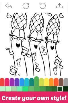 The Book Coloring for Veggie by Fans screenshot 2