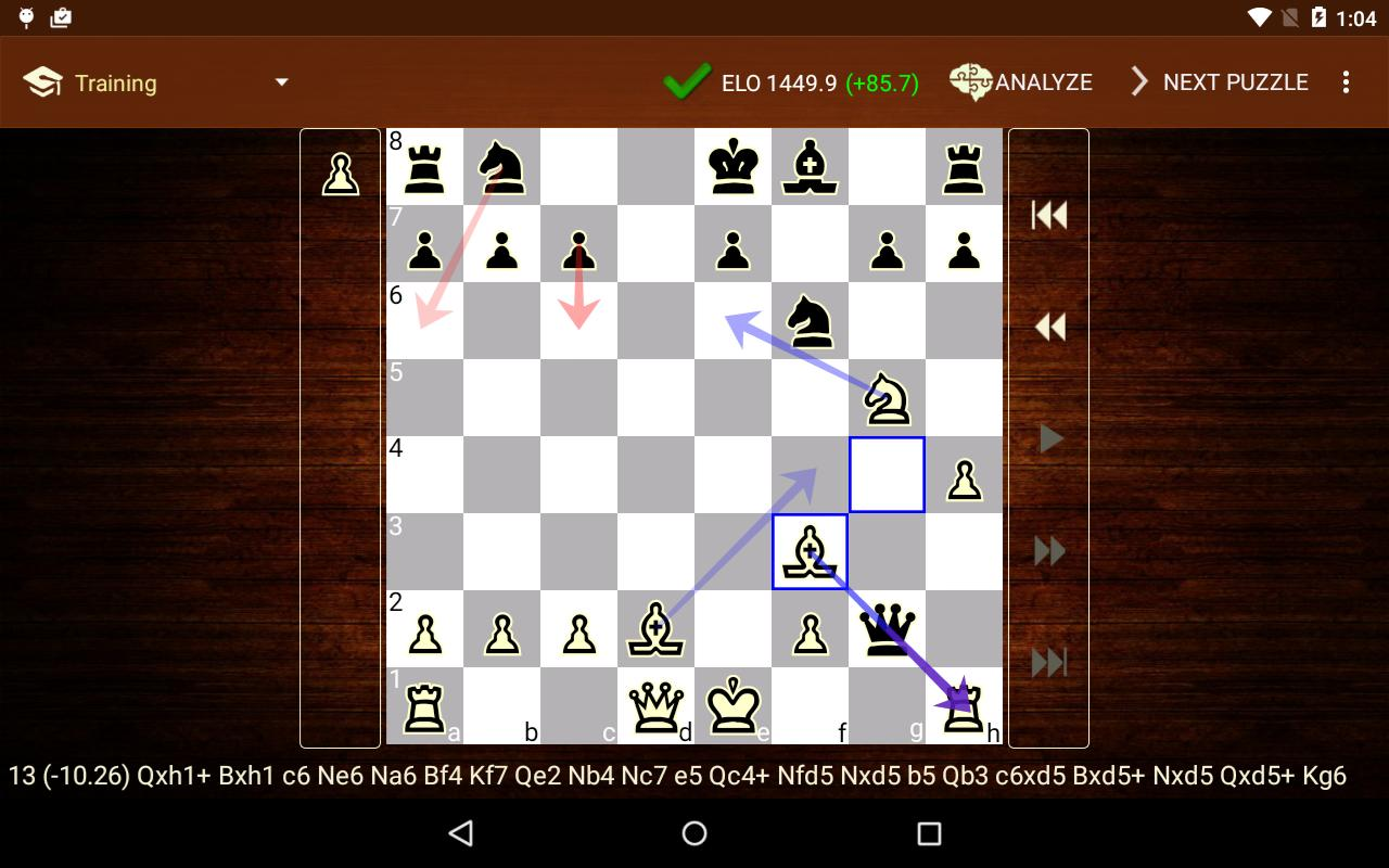 Chess tactics trainer for android apk download.