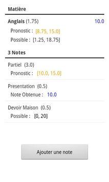 Notes Pronostics screenshot 3