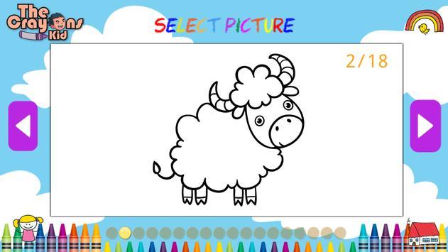 The Crayons Kid Coloring Book For Animals Apk Screenshot